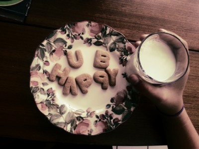 my sunday best alphabet cookies and milk