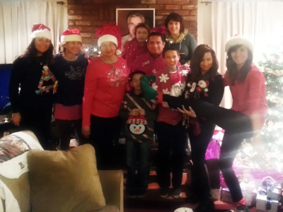 the dork side of the family with 'ugly sweaters' gah!
