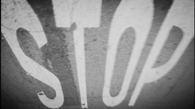 STOP in the street