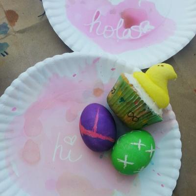 hi eggs and peeps