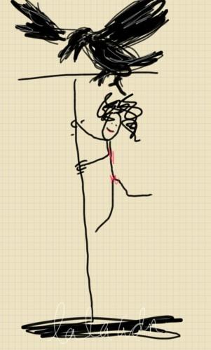 edgar poe dancer doodle lala