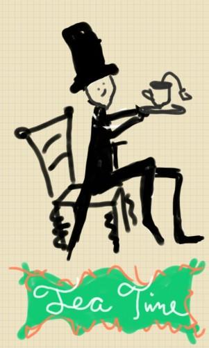 fancy tea time  doodle lala